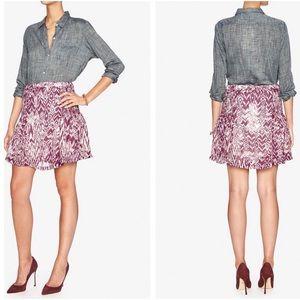 IRO Adele Ikat Purple Lined Skirt